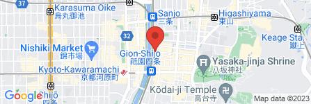 地図 京の焼肉処 弘 祇園山 名庵