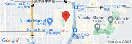 地図 上島珈琲店 京都河原町店