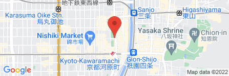 地図 松屋 河原町店