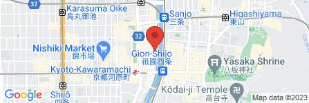 地図 串焼き・おもち  お箱 -OHAKO- 先斗町店
