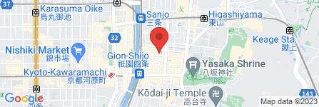 地図 祇園新橋 中谷