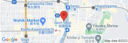 地図 まんざら亭 先斗町店