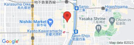 地図 ダイニングダーツバー Bee  河原町店