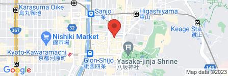 地図 Glanz kei 衹園新門前
