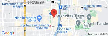 地図 餃子の王将 河原町店