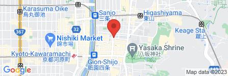 地図 京都祇園 着物レンタル 着な晴れ