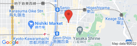 地図 bar al bacio 祇園