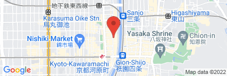地図 先斗町バイク駐車場