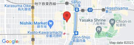 地図 Cafe&Meal MUJI 京都