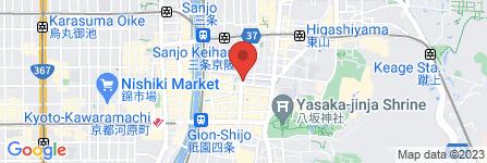 地図 夢工房 祗園店