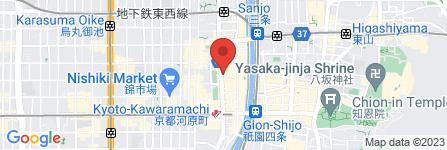 地図 世界の山ちゃん 河原町店
