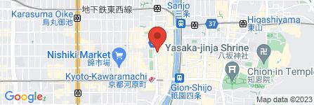 地図 鳥貴族 三条河原町通店