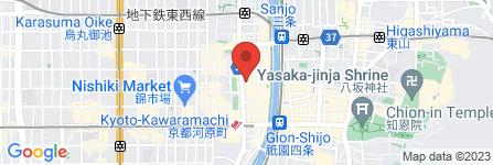 地図 いろり庵 京都三条河原町店