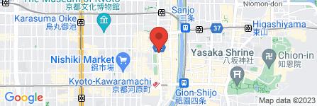 地図 Becky Lash  京都四条河原町店