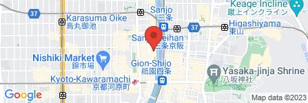 地図 京乃雪本舗 先斗町店