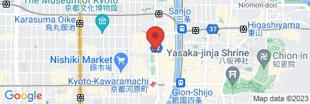 地図 鎌倉パスタ  ユニゾイン京都河原町四条店