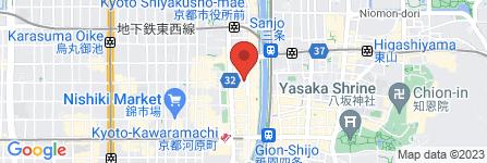 地図 200円酒場ほげつ 六角木屋町店