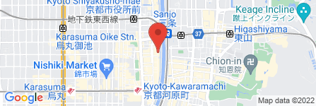 地図 GANSAN 先斗町別邸