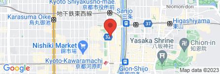 地図 100 SHOP ダイソー 京都河原町店