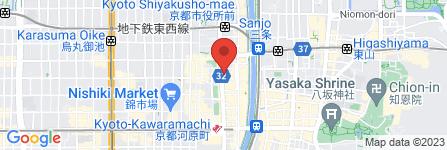 地図 酒のケント&業務スーパー三条河原町店