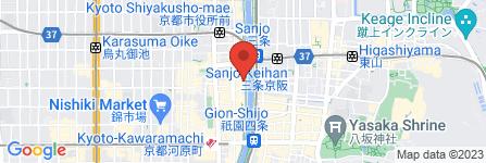 地図 農家野菜 ふたご家  京都先斗町