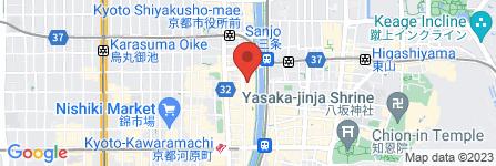 地図 土間土間 木屋町三条店