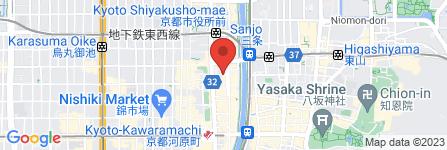 地図 赤から 京都三条河原町店