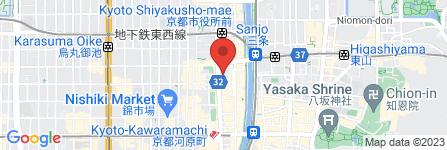 地図 ホテルリソル京都 河原町三条