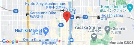 地図 京の焼肉処弘 先斗町店
