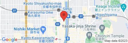 地図 牛串ぶんぞう 先斗町店
