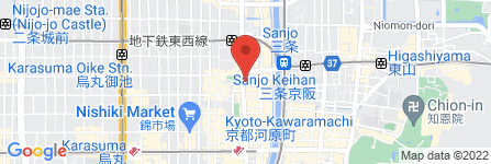 地図 ボディケアボディ 三条河原町店
