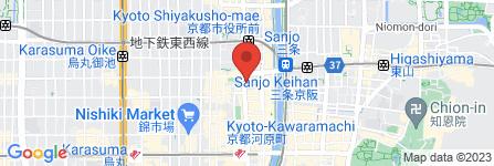 地図 カレーハウスCoCo壱番屋 河原町三条店