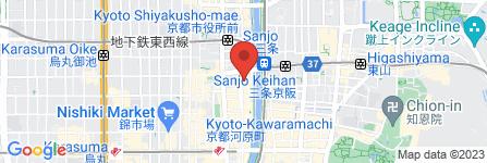 地図 世界の山ちゃん 三条木屋町店