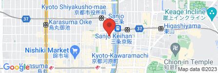 地図 天ぷら海鮮 米福 京都木屋町店