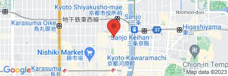 地図 アサヒビヤレストランスーパードライ京都