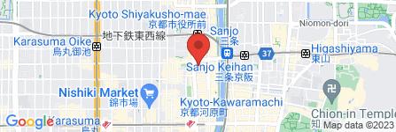 地図 ELMビューティサロン三条河原町店