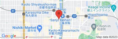 地図 ホホホ座 三条大橋店