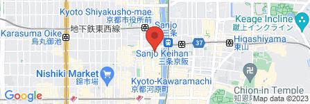 地図 京ねぎ焼オホーツク 木屋町店
