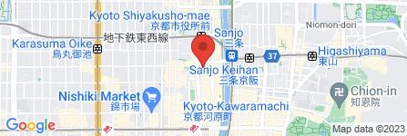 地図 カプリチョーザ 河原町VOX店