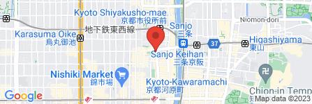 地図 ウィルコムカウンター三条河原町店