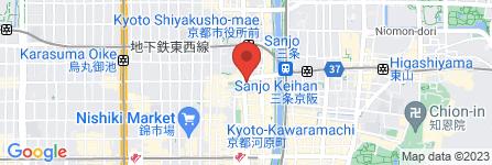 地図 なか卯 河原町三条店