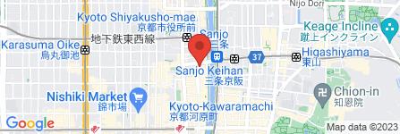 地図 bar moon walk 三条木屋町店