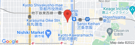 地図 Mexican Dining  AVOCADO 京都店
