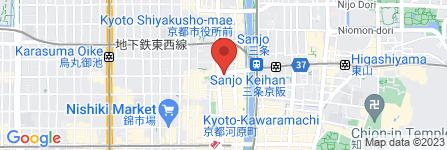 地図 フィットカレッジ京都三条校