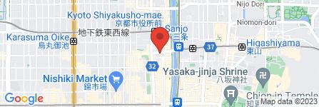 地図 Feerique  京都三条河原町店