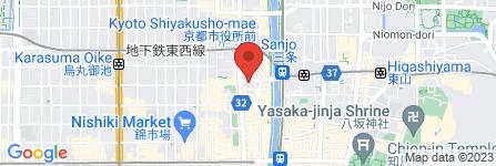 地図 バーガーキング河原町三条店