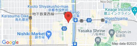 地図 graniph京都三条通り