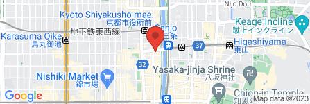 地図 松屋 京都三条店