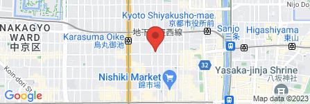 地図 手づくりハンバーグの店 とくら  京都三条店