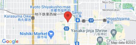 地図 進々堂 三条河原町店